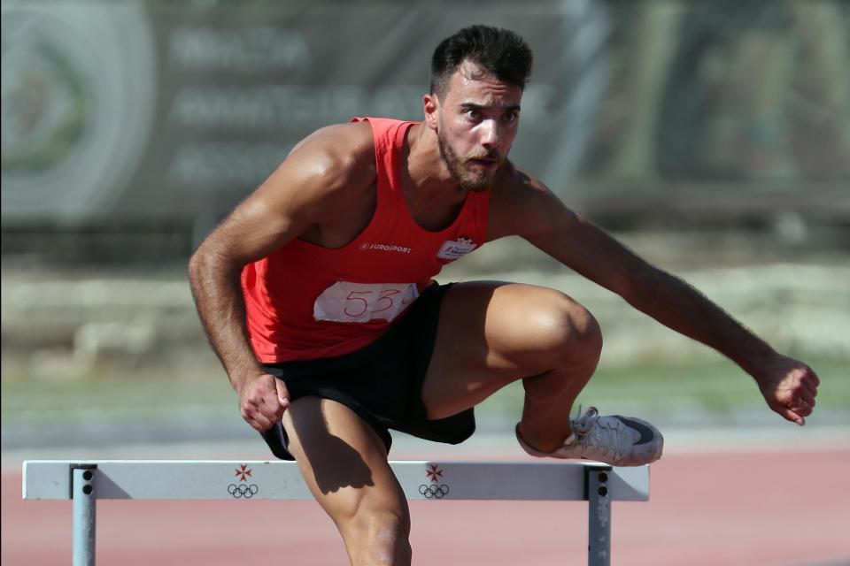 Daniel Saliba breaks 110 metres hurdles National Record
