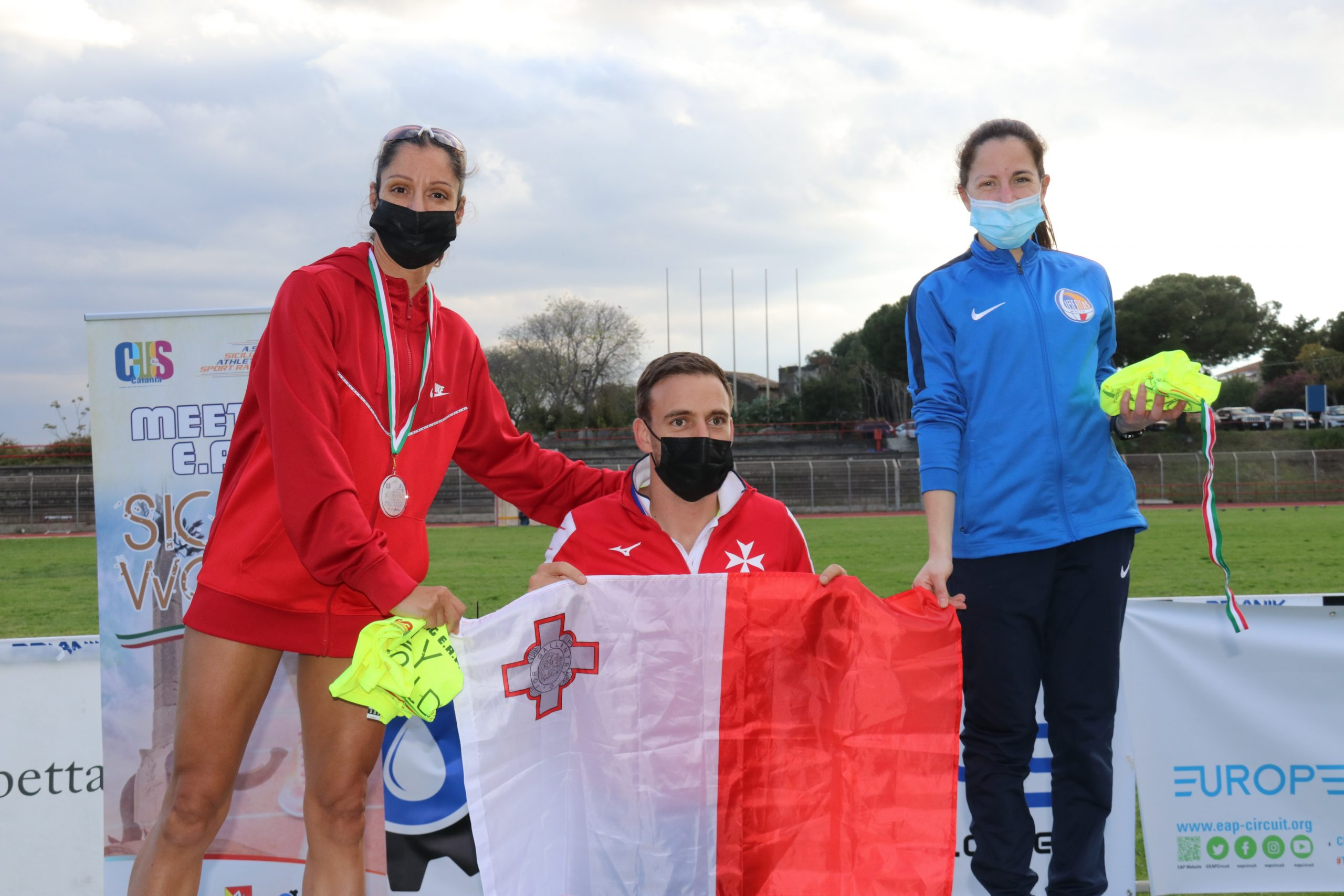 Maltese athletes claim six gold medals in Sicily EAP International Athletics Meeting