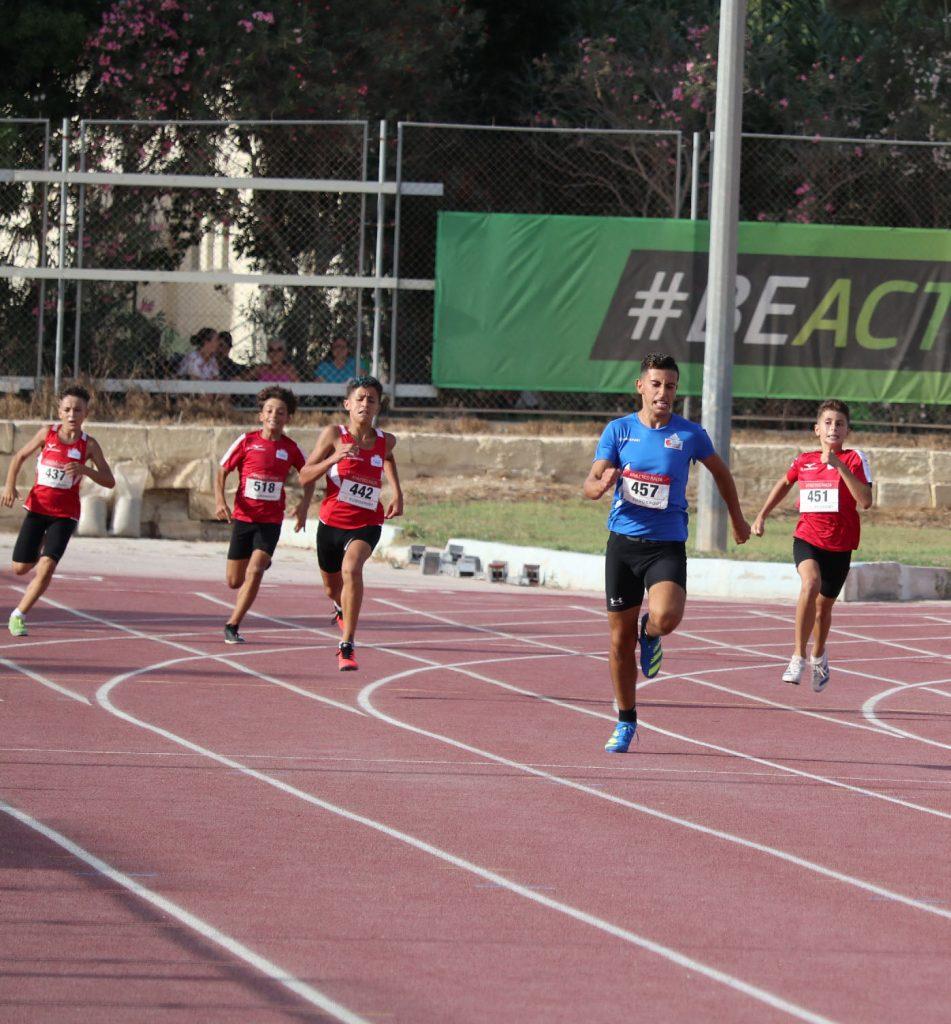 Luca Gerada winning the 300m - Photo Credits Melanie Charles